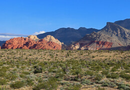 Color photo of Red Rock Canyon mountains in Nevada.