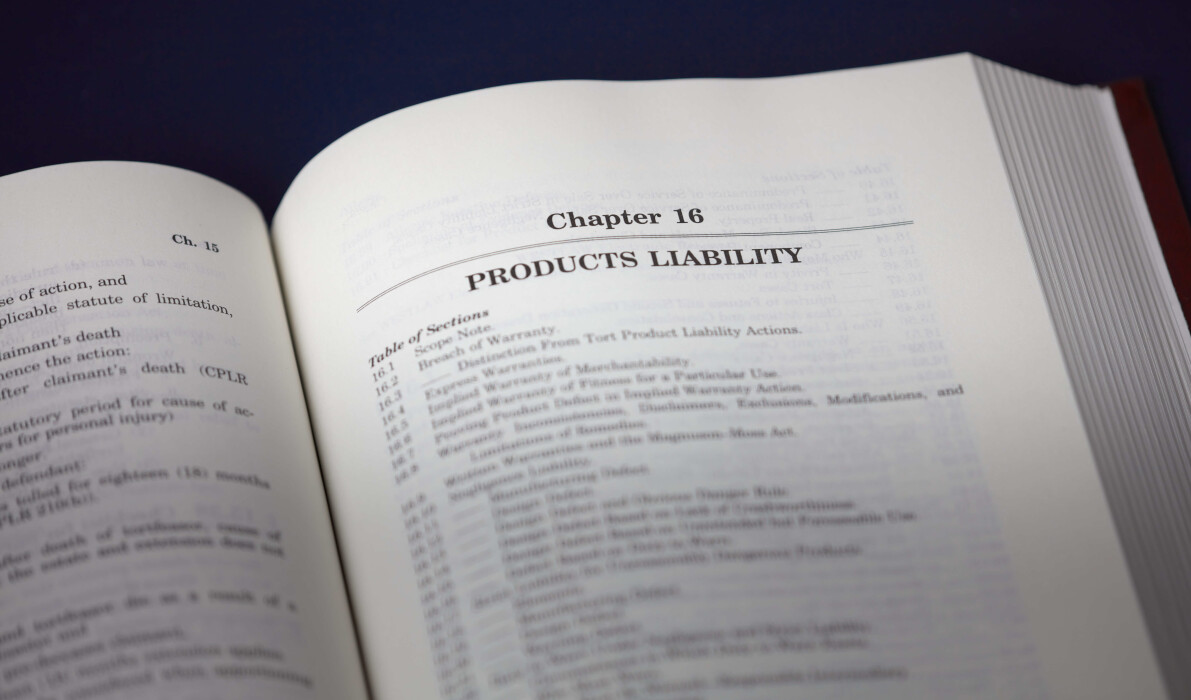 Inside New York Torts Law book Chapter 16 Products Liability page.