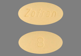 Front and back of Zofran tablets.
