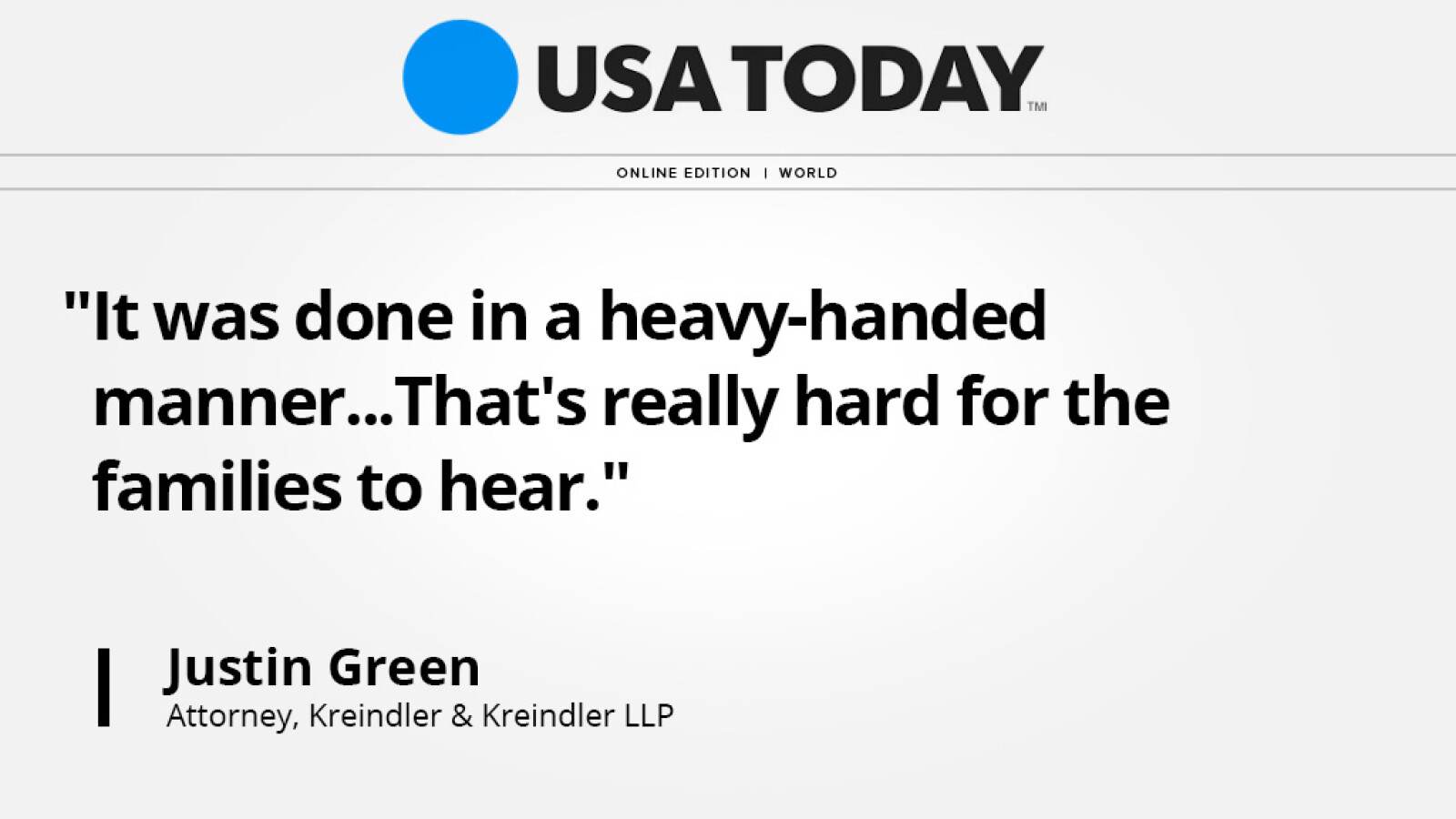 In USA Today, aviation attorney Justin Green discusses declaration that Flight 370 disappearance was an accident