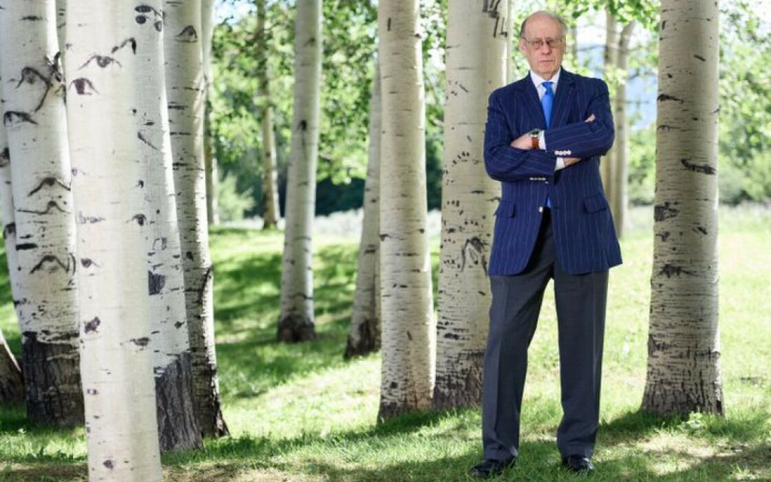 Photo of Marc Moller in Birch tree forest used in Der Spiegle article