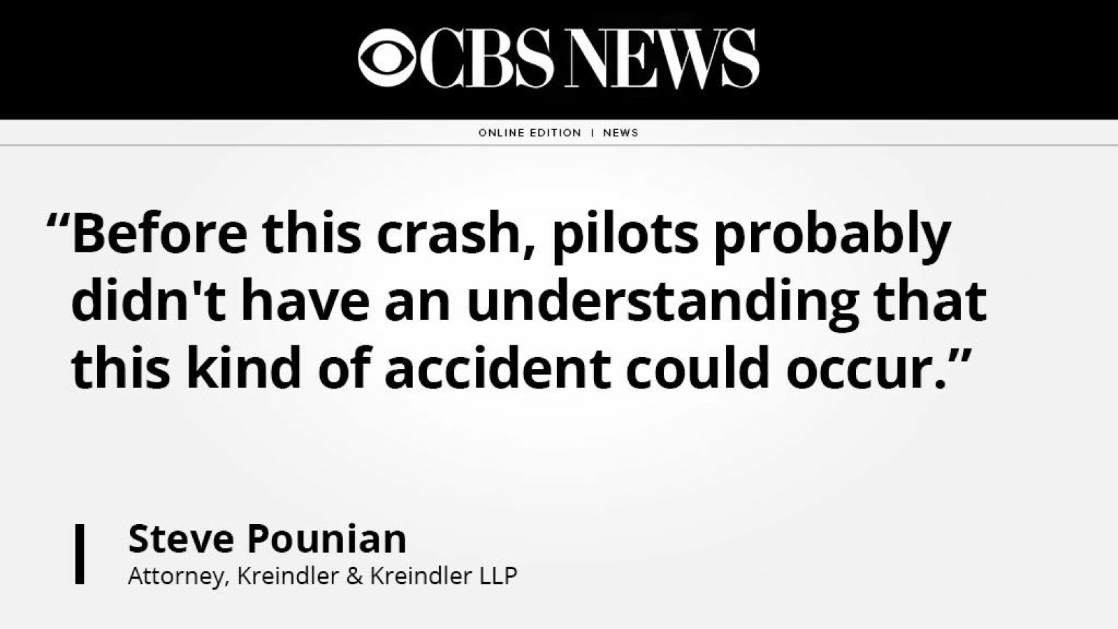 Aviation attorney Steven Pounian offers perspectives on anniversary of Flight 587 crash in NYC