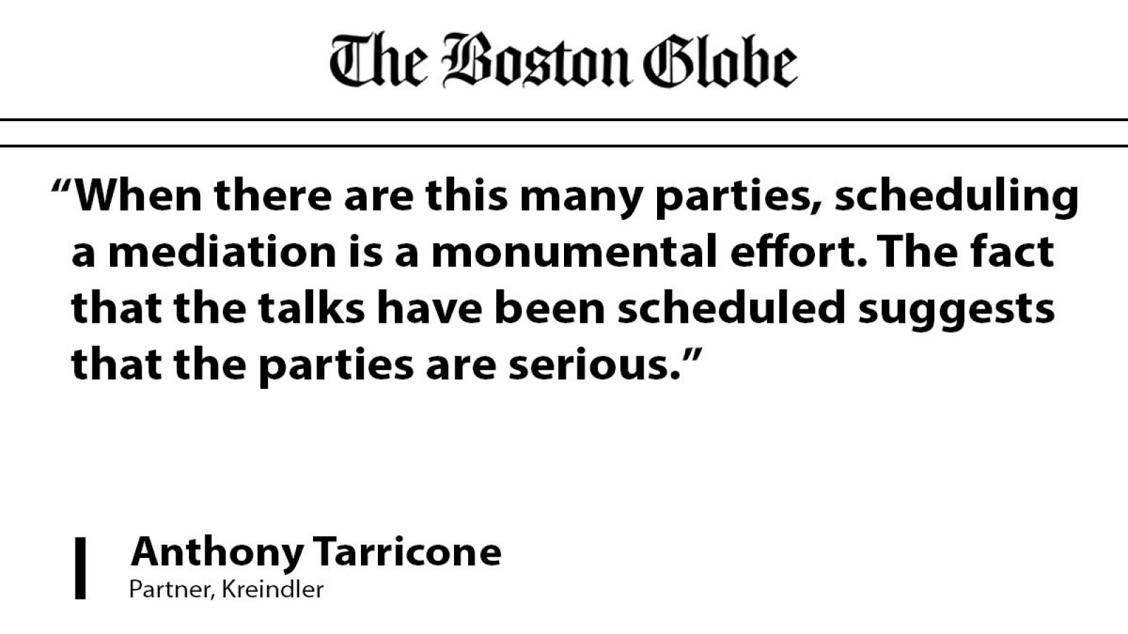 Attorney Anthony Tarricone comments on driver's death after big dig ceiling collapse